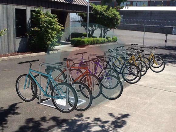 Another possible placement for a bike corral.