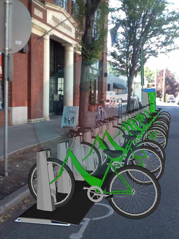 What will bike share stations look like when they come to Portland?