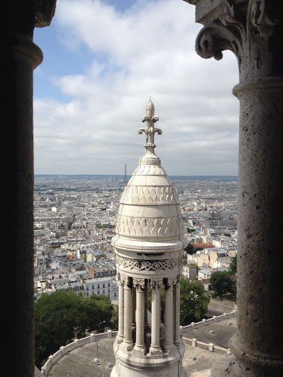 View from atop the main dome of Basilica de Sacre Coeur