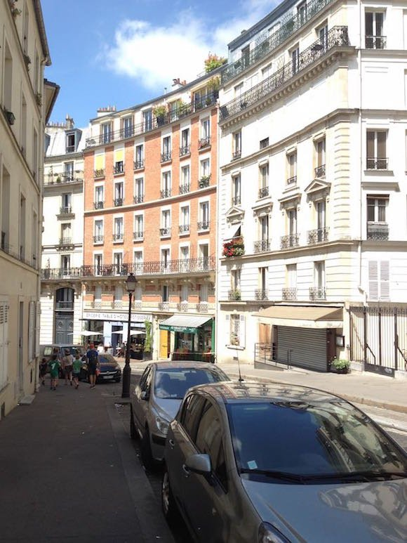 Apartment buildings in Montmarte district