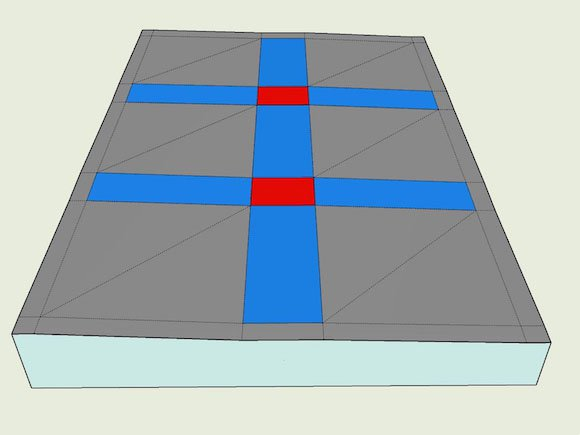 Model's 3D roads and intersections
