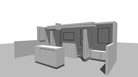 Trade-Show Booth model without textures applied