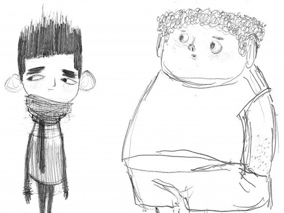 Heidi Smith's character drawings for The Boxtrolls.