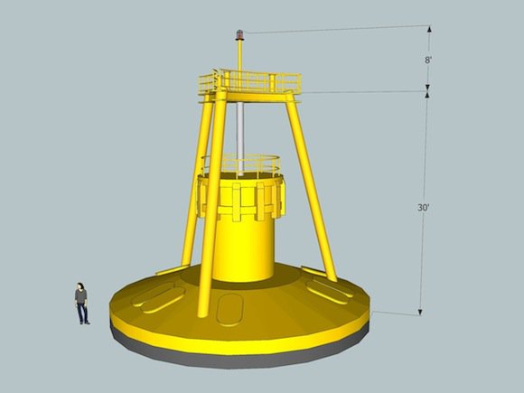 digital model of OPT-150 buoy