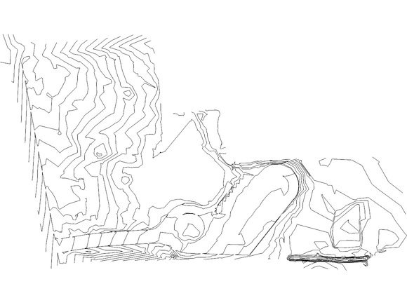 These topo lines were traced from a pdf in Illustrator, exported as a dwg, and then imported into SketchUp.