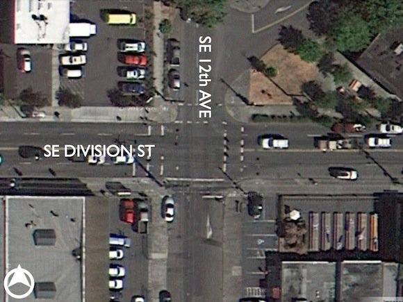 We start with an aerial photo of the incident location.